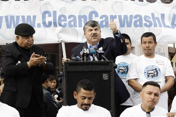 Trumka: Undocumented Carwashers are the Future of the Labor Movement