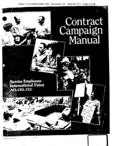 seiu campaign manual 235x300 SEIU Watch: Campaign Manual Promotes Breaking the Law